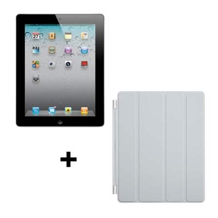 iPad 2 Apple Preto 16GB, Wi-Fi + 3G e Capa Apple, AP