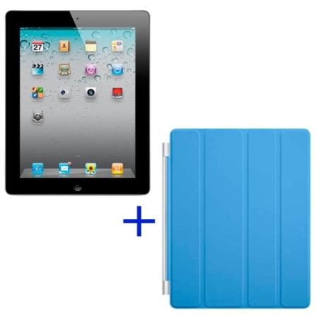 iPad 2 Apple Preto com 16GB,Wi-Fi+3G e Capa Apple, AP