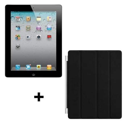 iPad 2 Apple Preto MC774BZA 32GB + Capa de Couro, AP