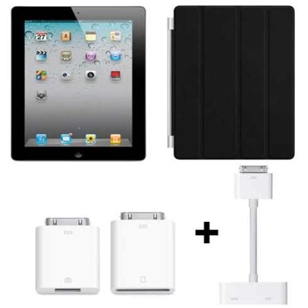 iPad 2 64GB, 3G + Kit Conexão + Capa + Adap. Dig, AP