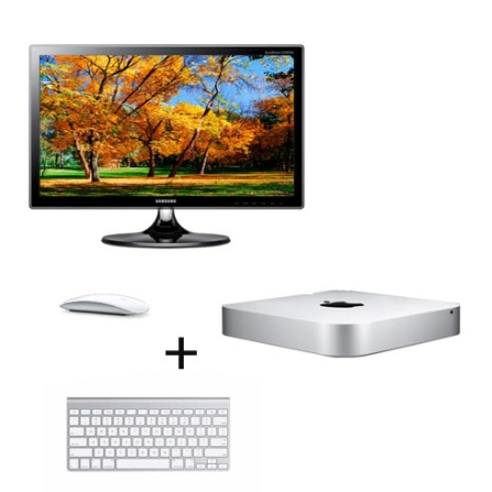 Mac mini, Mouse, Teclado e Monitor Samsung com 23