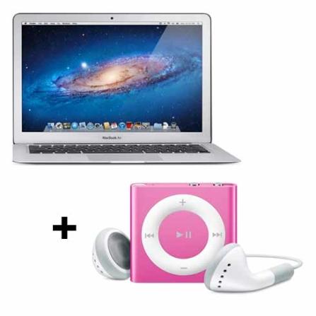 MacBook Air Apple MC968BZA + iPod shuffle com 2GB, AP