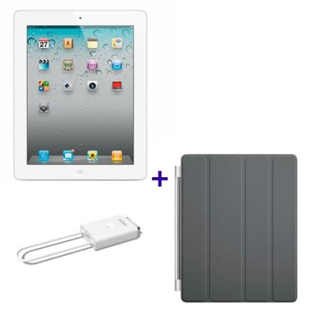 iPad 2 Branco 16GB e Wi-Fi, Receptor de TV, Capa