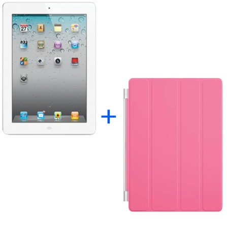 iPad 2 Branco 16GB 3G+Smart Cover Rosa, AP