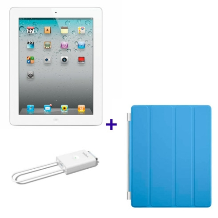 iPad 2 Branco 16GB e Wi-Fi+3G, Receptor de TV,Capa