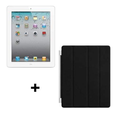 iPad 2 Apple Branco MC984BZA 64GB + Capa de Couro, AP