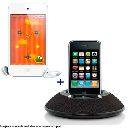iPod touch com Memória de 64GB + Dock Station JBL