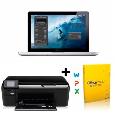 MacBook Pro Apple+Multifuncional+Microsoft Office
