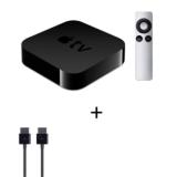 Apple TV - Alugue Filmes em HD, Assista a Vídeos do Netflix, YouTube e Vimeo + Cabo de Conexão Preto HDMI - Apple - MC838BEA