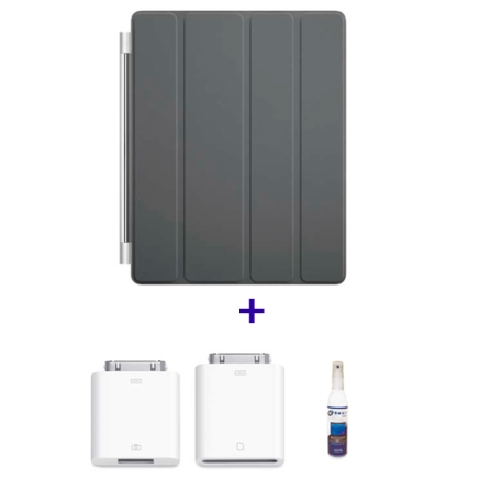 Smart Cover, Kit para Câmera e Limpador para iPad