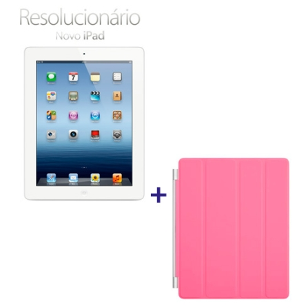 Novo iPad Branco MD328BZA com 16GB, Tela Retina Multi-Touch 9.7