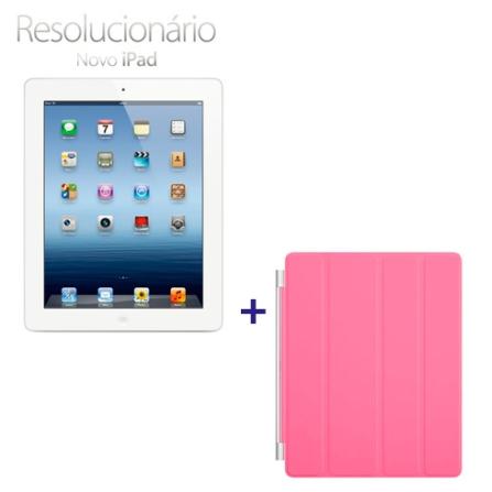 Novo iPad Branco MD329BZA com 32GB, Tela Retina Multi-Touch 9.7
