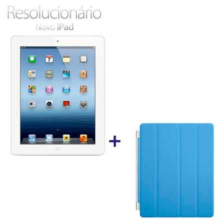 Novo iPad Branco MD329BZA com 32GB, Tela Retina Multi-Touch 9.7