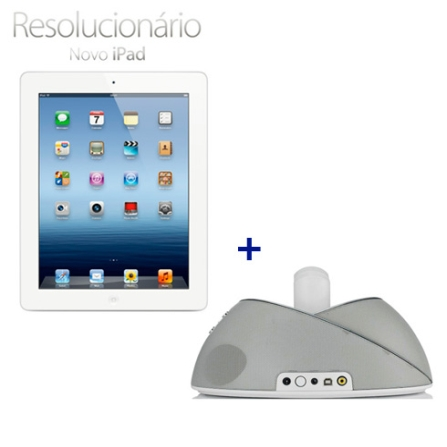 Novo iPad Branco MD330BZA com 64GB de Memória, Tela Retina Multi-Touch 9.7