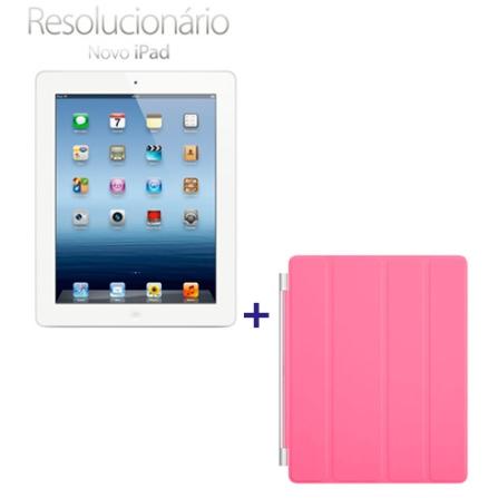 Novo iPad Branco MD330BZA com 64GB, Tela Retina Multi-Touch 9.7