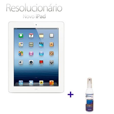 Novo iPad Branco MC330BZA com 64GB, Wi-Fi, 5.0MP
