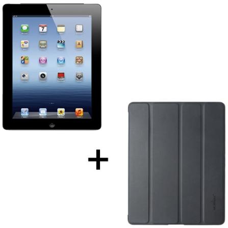 iPad 3ª geração Preto com 16GB de Memória, Tela Retina, Câmera iSight 5.0MP, Wi-Fi + 4G*, Vídeos em HD, Chip Apple A5X D