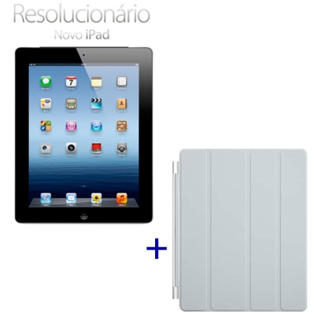 Novo iPad Preto MD366BZA com 16GB , Tela Retina Multi-Touch 9.7