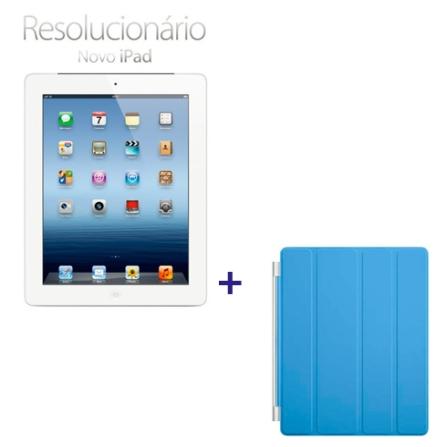 Novo iPad Branco MD370BZA com 32GB, Tela Retina Multi-Touch 9.7