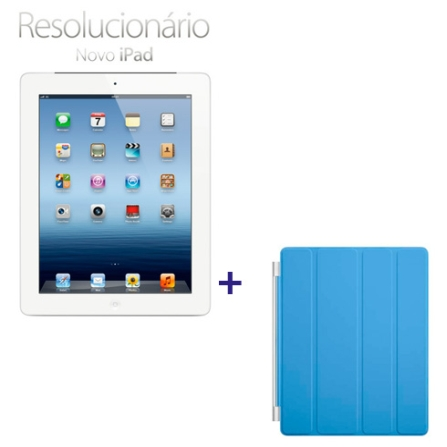 Novo iPad Branco MD371BZA com 64GB, Tela Retina Multi-Touch 9.7