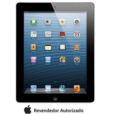 iPad com Tela Retina Apple Preto com 16GB, Tela Multi-Touch 9,7
