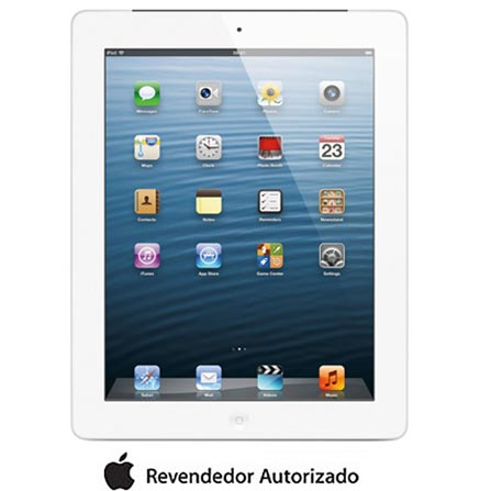 iPad com Tela Retina Apple Branco c/ 32GB, Tela Multi-Touch 9,7