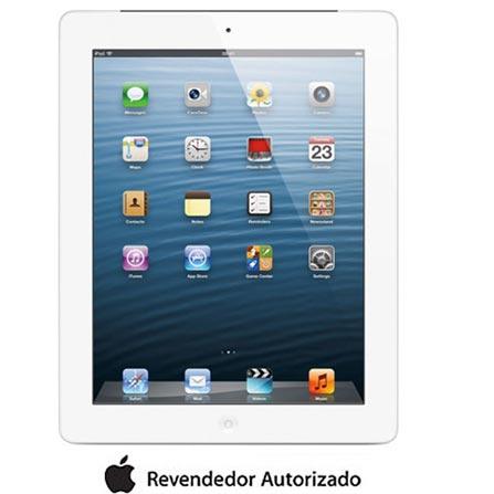 iPad com Tela Retina Apple Branco c/ 64GB, Tela Multi-Touch 9,7