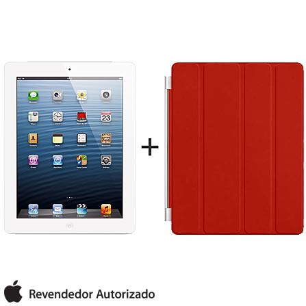 iPad com Tela Retina Apple Branco com 64GB, Tela Multi-Touch 9,7