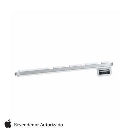 Teclado Numérico Branco e Alumínio Apple, Prata e Branco, 12 meses