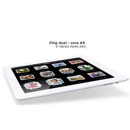 iPad 2 Branco com 16GB e Wi-Fi + 3G, Bivolt, Bivolt, Branco, 0000001.00, 000016, 1, N, APPLE, 003412, A5, iOS, 0000009.70, I, Micro Chip, 12 meses