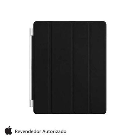 Capa de Couro Smart Cover Preto Frontal para iPad2