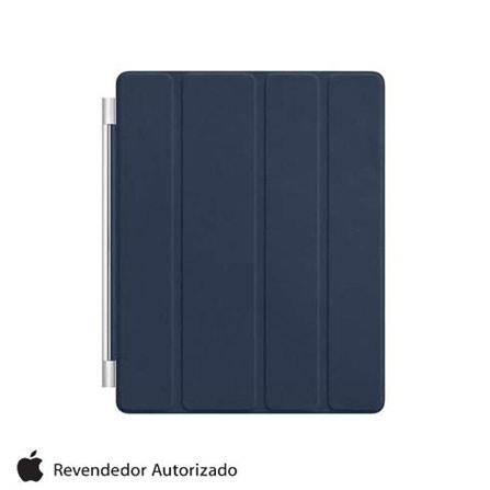 Capa de Couro Smart Cover Azul Marinho para iPad 2, Azul