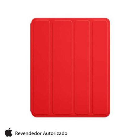 Capa Frontal e Traseira para iPad de Poliuretano, Vermelho