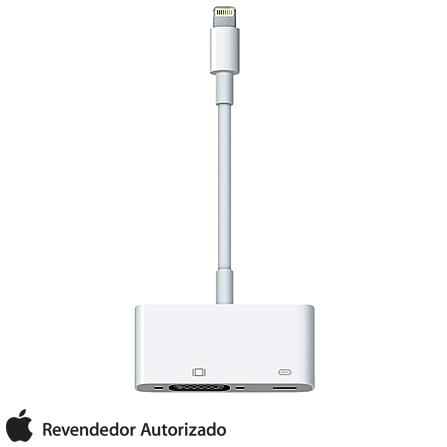 Adaptador de Lightning para VGA Branco - Apple - MD825BZA, Não se aplica