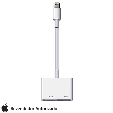 Adaptador de Lightning para AV Digital Branco Apple - MD826BZA, Branco