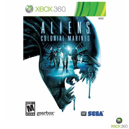 Jogo Aliens: Colonial Marines + DLC XBOX 360, Não se aplica, Xbox 360, Tiro em Terceira Pessoa, DVD, 12 anos, Não especificado, Não especificado, 03 meses