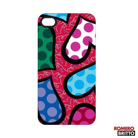Capa para iPhone 4/4S Romero Britto Policarbonato, Colorido, 12 meses