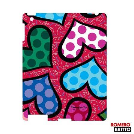 Capa para iPad 3 e 4 Policarbonato Colorido Hearts Romero Britto - MA082PHR1, Colorido