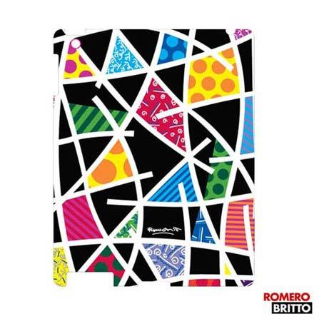 Capa para iPad 4 e 3 Romero Britto Policarbonato, Colorido