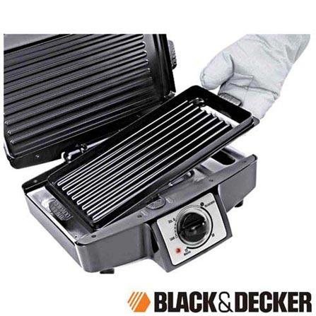 Multi Grill Elétrico com Grelha Removível Black&Decker Prata - MG1200, 110V, 220V