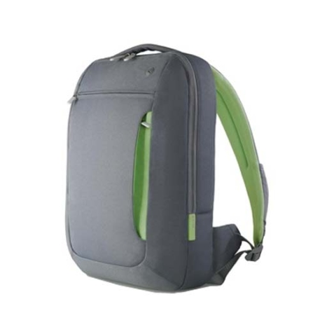 Mochila Cinza e Verde para Notebook / Alças Almofadadas - Belkin - F8N057DGG