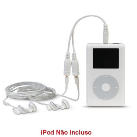 Adaptador de Áudio para iPod / Permite Usar 2 Fones de Ouvidos / Branco -Belkin - F8V234WHTAPL