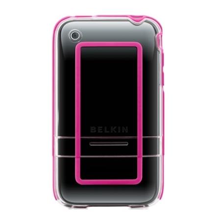 Capa Transparente com Detalhes em Rosa em Policarbonato para iPhone - Belkin - F8Z461029, Não se aplica, 36 meses