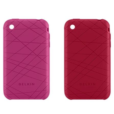 Capas de Silicone Rosa e Vermelha para iPhone - Belkin - F8Z472045, Pink, 36 meses