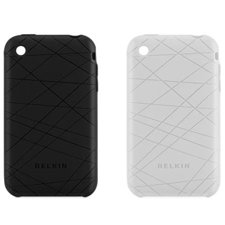 Capas de Silicone Preta e Branca para iPhone - Belkin - F8Z472BKC, Branco, 36 meses