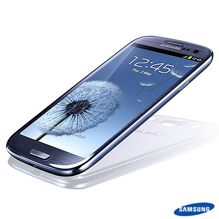 Samsung Galaxy S III LTE I9305 Desbloqueado Claro Azul com Display Super AMOLED HD 4,8