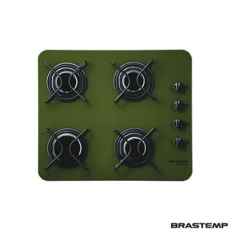 Cooktop 4 Bocas a Gás / Verde - Colors Brastemp - BDD60AGVNA, Vidro, Gás, 04 Bocas, Superautomático