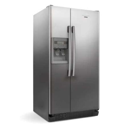 Refrigerador Side by Side 561L Frost Free Brastemp - BRS62BR, 110V, 220V, Inox, Acima de 500 litros, 561 Litros, 161 Litros, 400 Litros, Classe A, 77,5 kWh/mês, Sim, Sim, Sim, 12 meses, 02 Portas, Side by Side