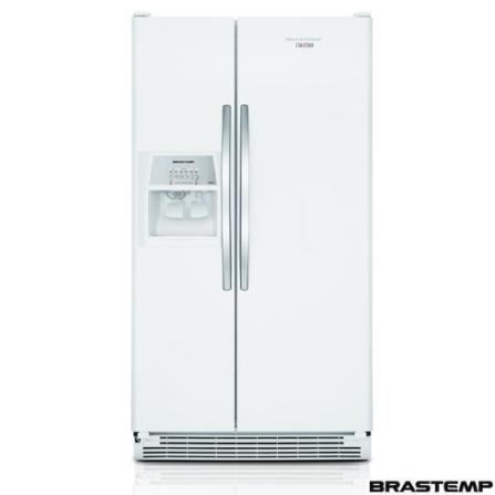 Refrigerador Side by Side 669L Frost Free Brastemp - BRS70EBANA, 110V, Branco, Acima de 500 litros, 669 Litros, 240 Litros, 436 Litros, Sim, Sim, Sim, 12 meses, 02 Portas, Side by Side
