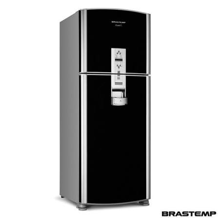 Refrigerador  2 Portas  Dispenser de latinhas Sistema Frost Free Brastemp Preta BRX49BX1NA, LB